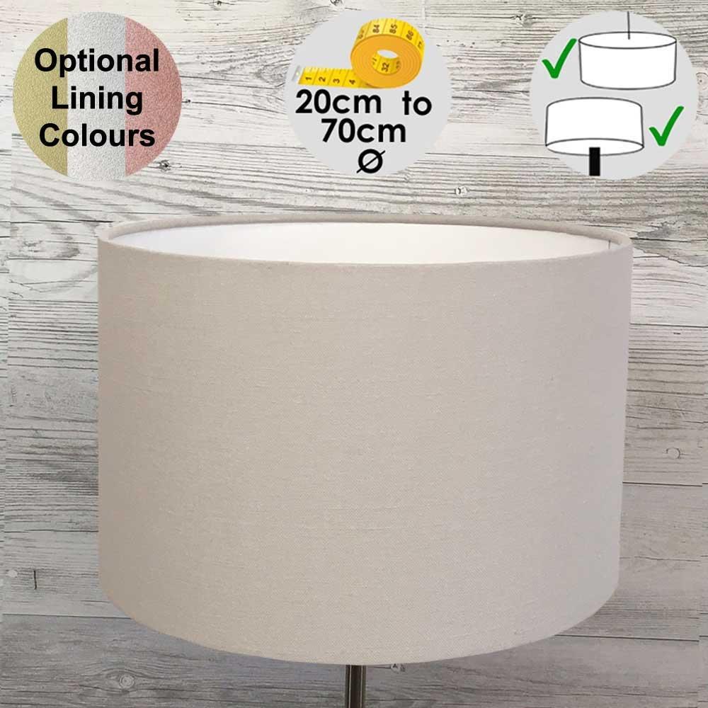 Aura Drum Table Lamp Shade Stone